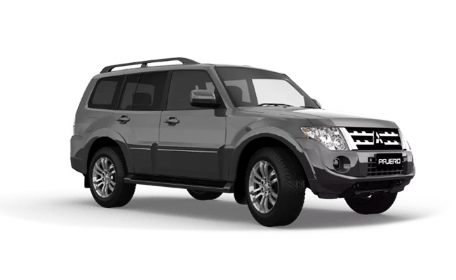 Pajero Exceed finished in Riverstone