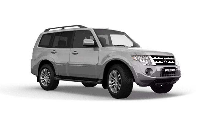 Pajero Exceed finished in Sterling Silver