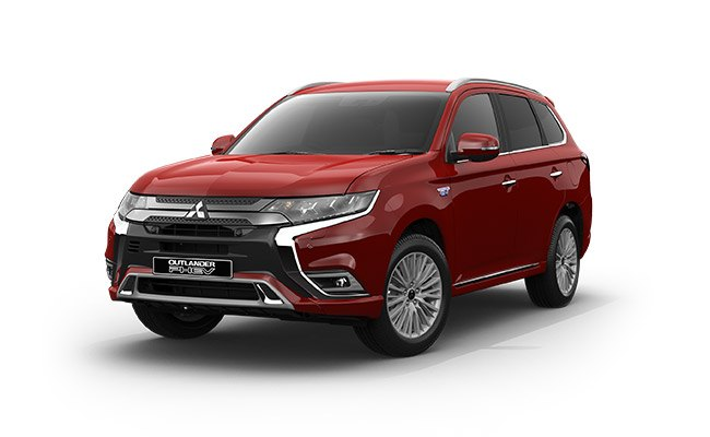 Outlander PHEV VRX finished in Rose REd