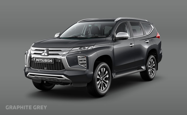 Pajero Sport finished in Graphite Grey