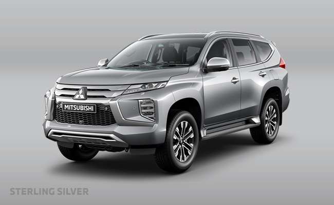 Pajero Sport finished in Sterling Silver